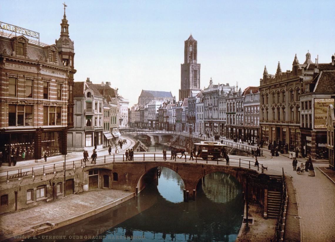 utrecht_-_oude_gracht_en_bakkerbrug_1900