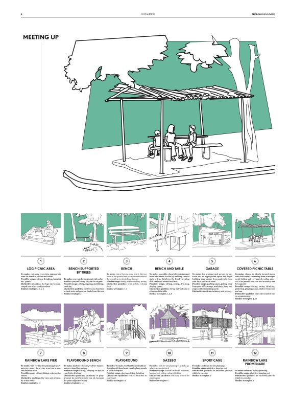 Illustrations of the peoples' appropriation of outdoor spaces