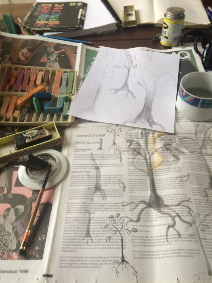 "Stylistic ""neuron tree"" experiments"